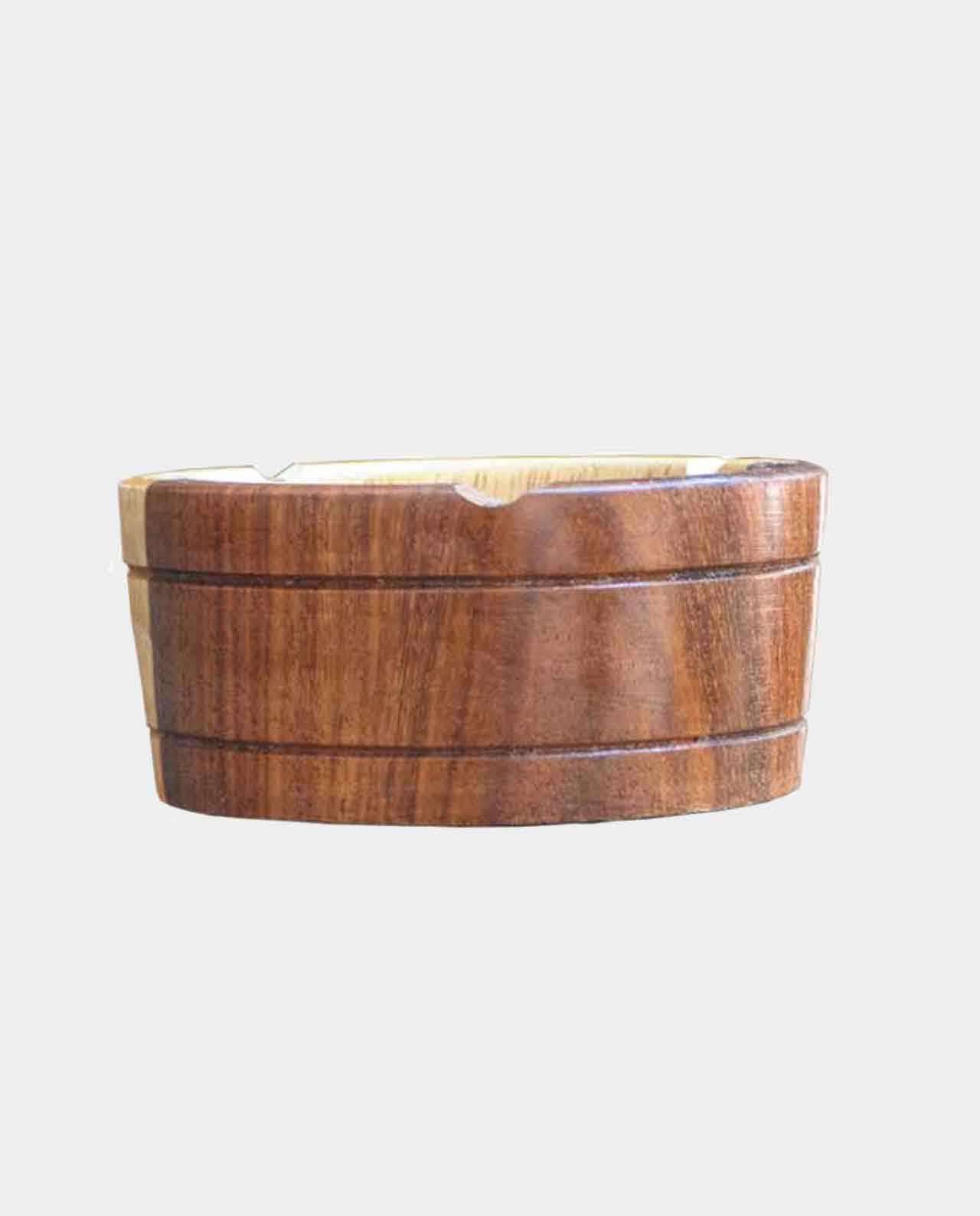 An ashtray Handmade of Asersus wooden